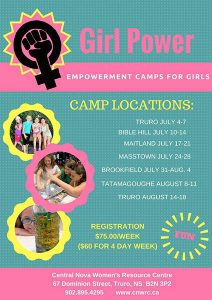 Girl Power Summer Day Camp in Masstown @ Nova Scotia | Nova Scotia | Canada